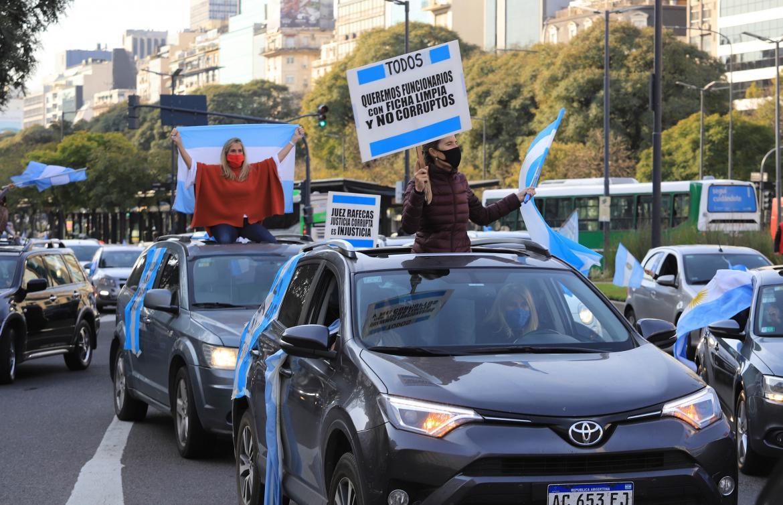 Protestas en distintos puntos del país contra reforma judicial, Agencia NA