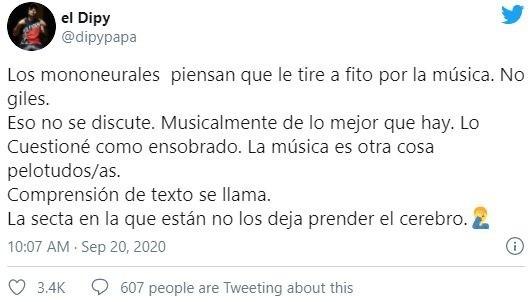 El tuit explicativo de El Dipy