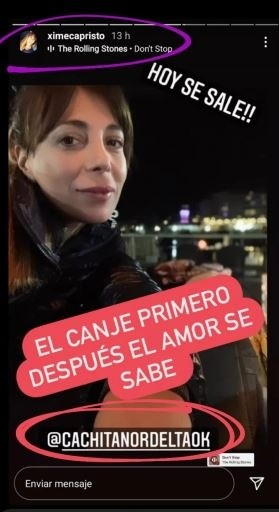 El canje de Ximena Capristo y Gustavo Conti en medio de la polémica