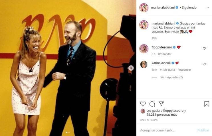 La emotiva despedida de Mariana Fabbiani a Raúl Portal