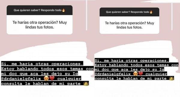 More Rial reveló que planea volver a pasar por el quirófano
