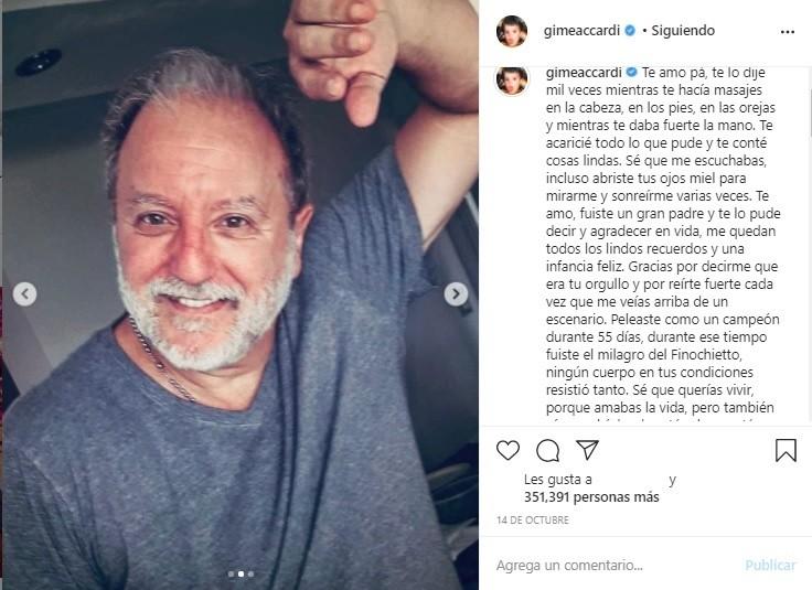 La profunda despedida de Gimena Accardi