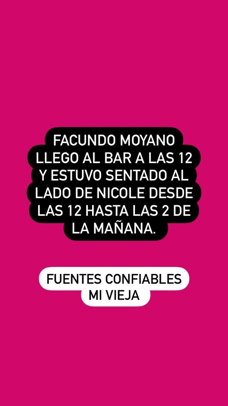 Las historias de reencuentro entre Nicole Neumann y Facundo Moyano