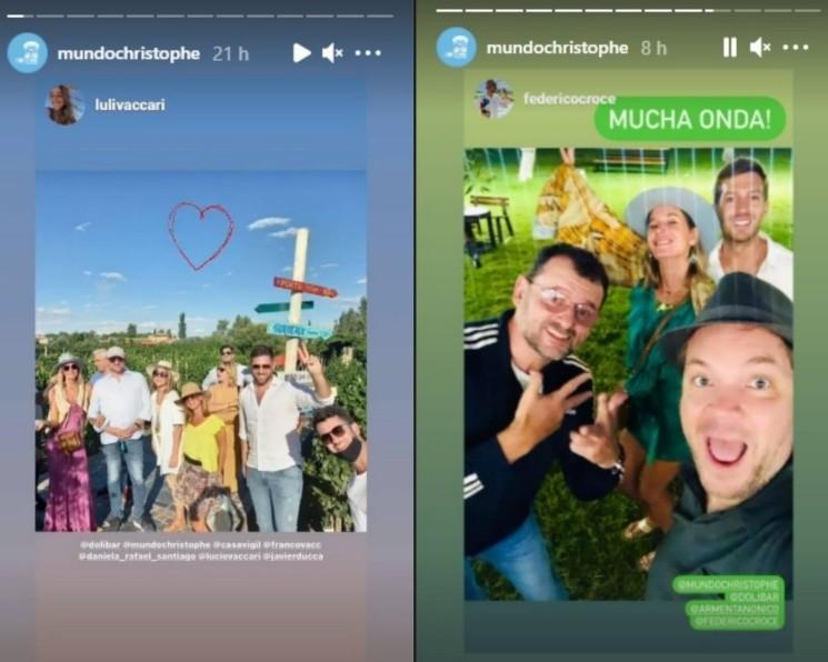 Las fotos que subió Christophe a su Instagram con la modelo